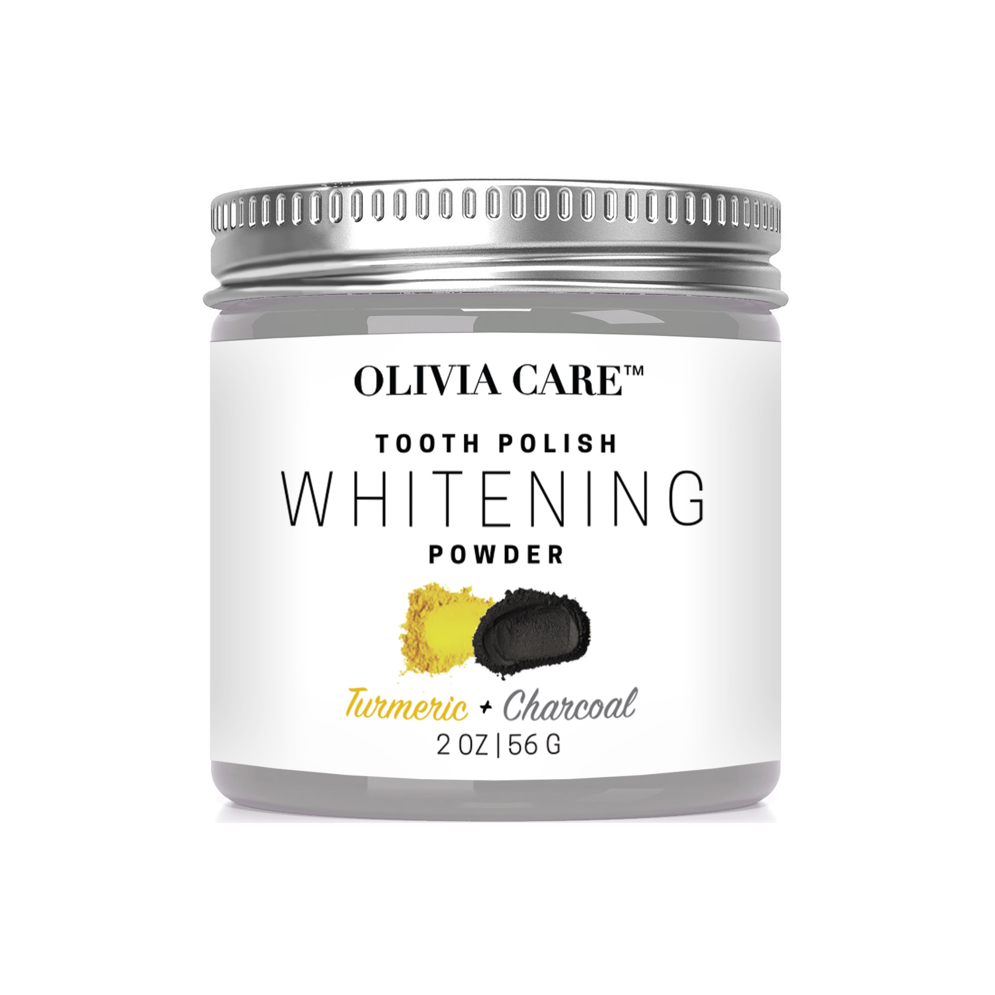 Turmeric Charcoal Whitening Tooth Powder Oliviacare